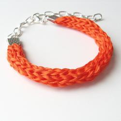orange silk bracelet